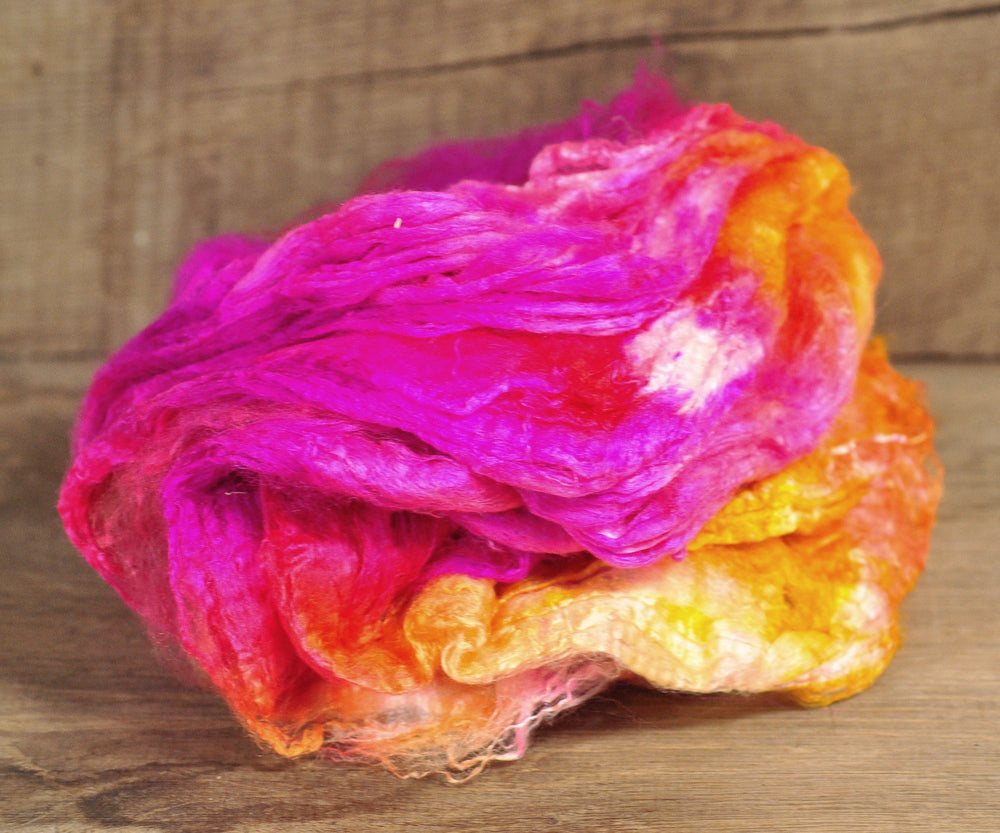 Silk Hankies - 'Orange / Fuchsia'