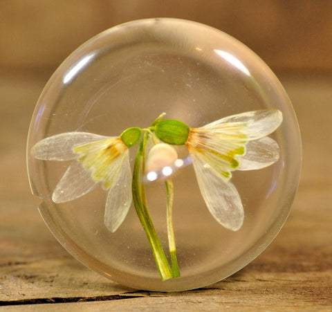 SECONDS Resin Drop Spindle - Snowdrops
