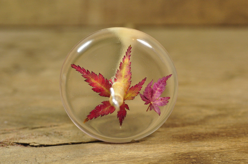 SECONDS Resin Drop Spindle - Acer Leaves