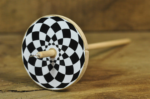 Basic Drop Spindle - Checker Board