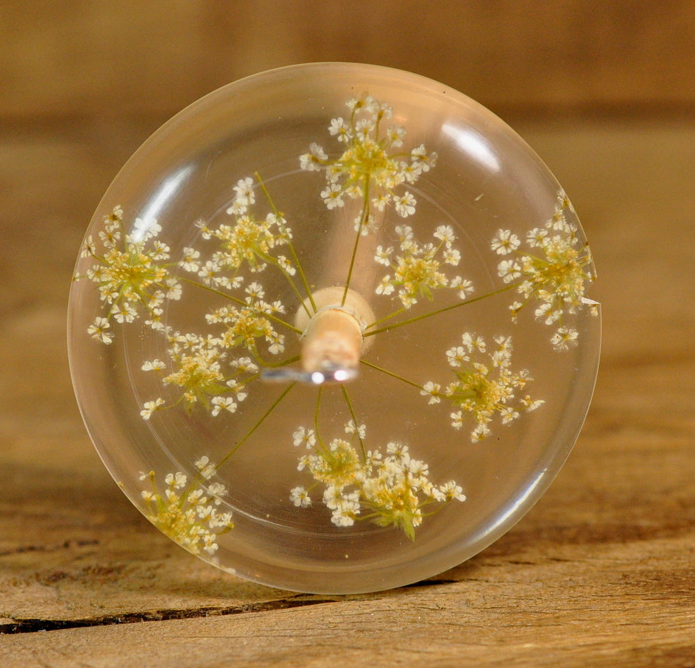 SECONDS: Resin Drop Spindle - Cow Parsley