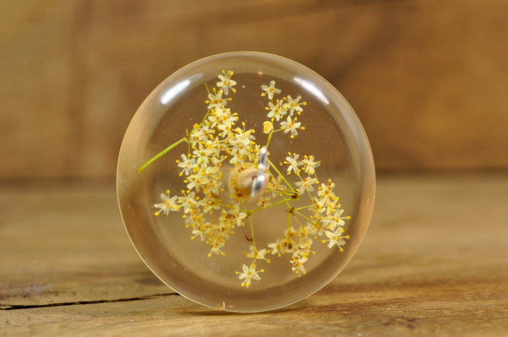 Resin Drop Spindle - Elderflower