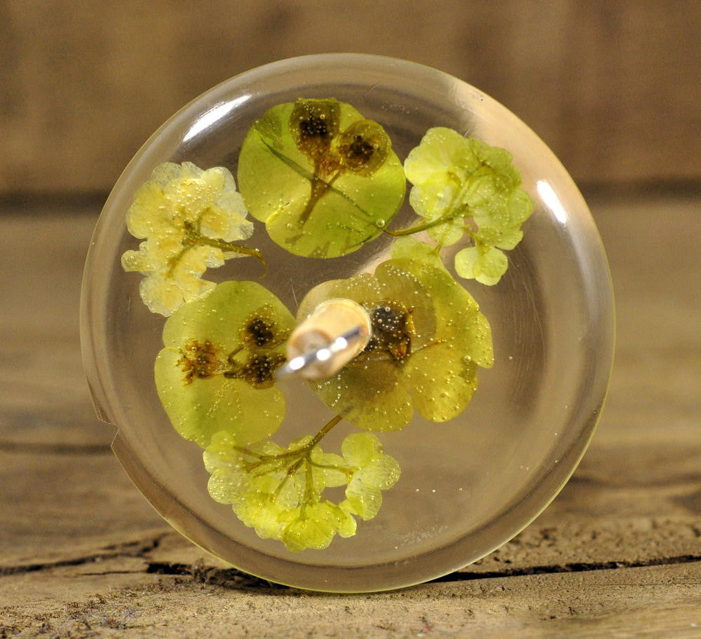 Resin Drop Spindle - Euphorbia and Guelder Rose