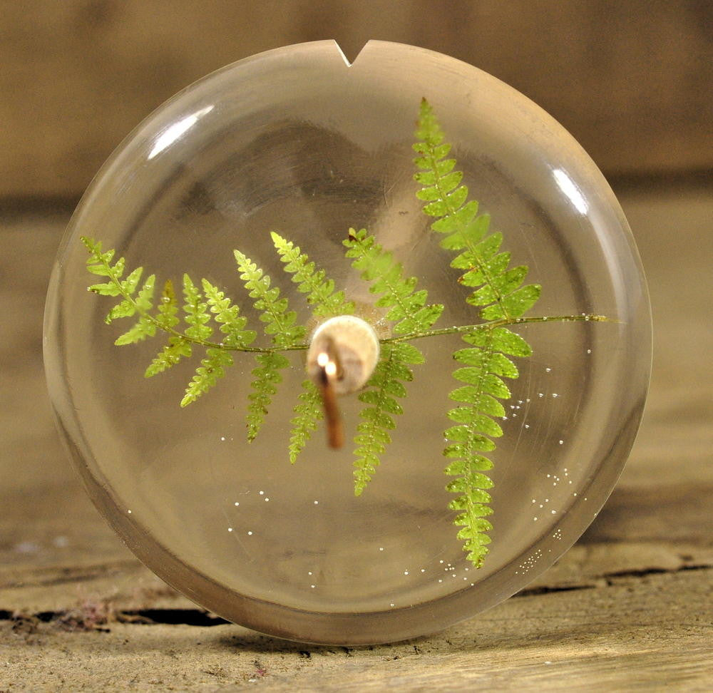 Resin Drop Spindle - Fern Frond