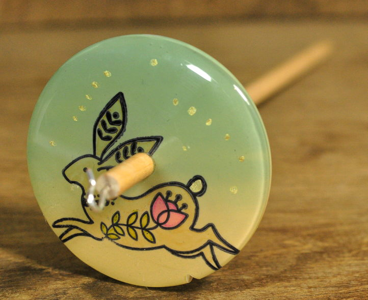 Handmade Drop Spindle - Hare Design (Large)