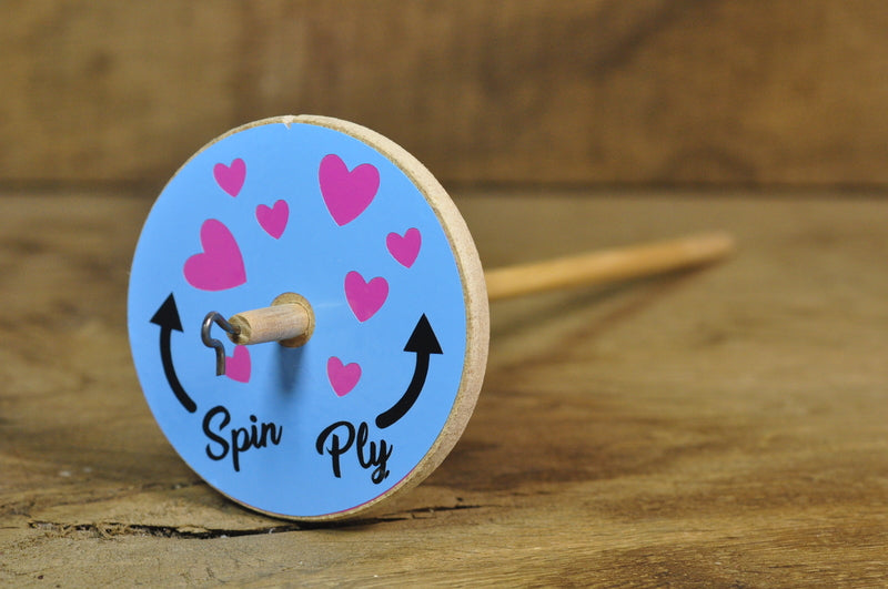 Basic Drop Spindle - Hearts