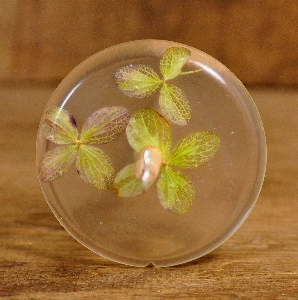 Resin Drop Spindle - Hydrangea