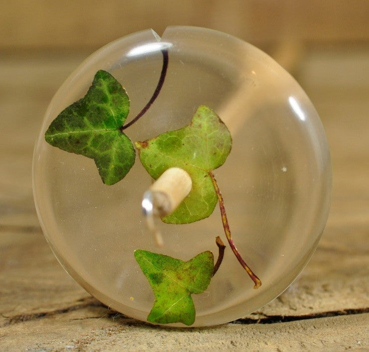Resin Drop Spindle - Ivy Leaves