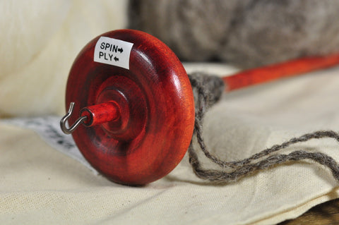 Beginner's Drop Spindle Kit - Orange