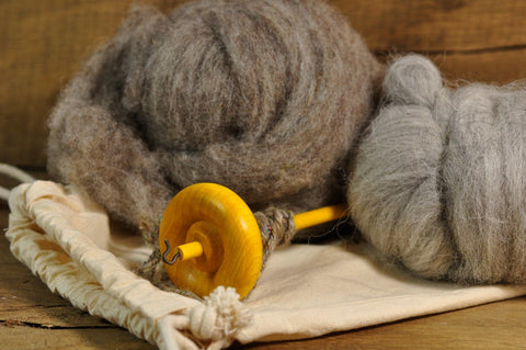 Beginner's Drop Spindle Kit - Yellow