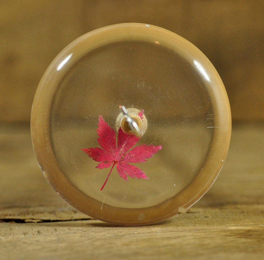 Resin Drop Spindle - Maple Leaf