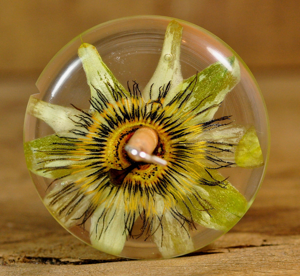 Resin Drop Spindle - Passion Flower