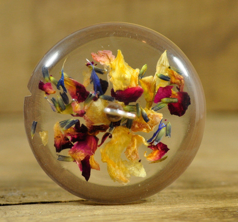 SALE Resin Drop Spindle - Rose Potpourri