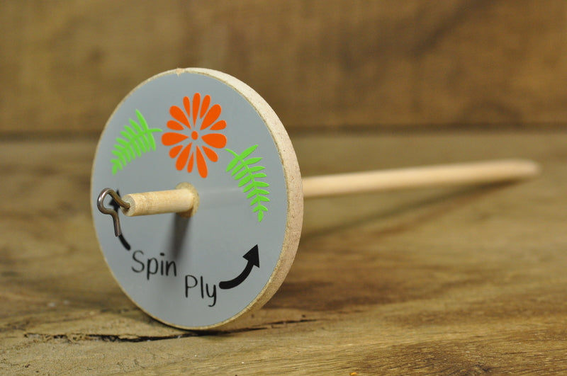 Basic Drop Spindle - Rustic Flower Design