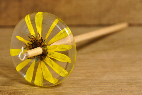 SECONDS Resin Drop Spindle - Perennial Sunflower