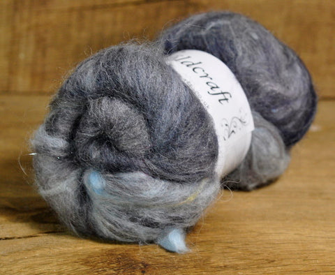Carded Wool/Luxury Fibre Mystery Batt 50g - 'Storm Clouds'