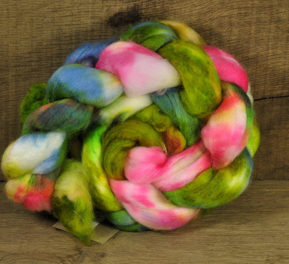 Superwash Falkland Wool Top - 'Lizard', 90g