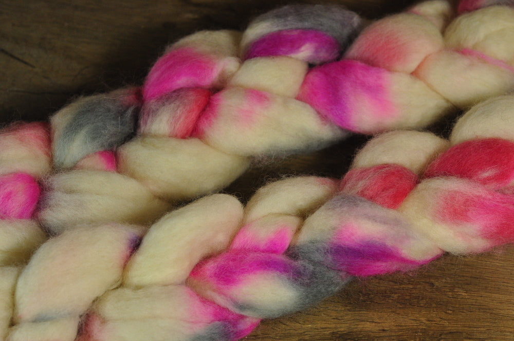 BFL Wool Top for Hand Spinning - 'Tickled'
