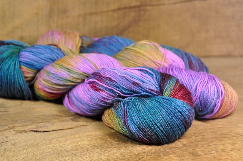 "Hand Dyed Merino Sparkle 4ply Yarn (Torquay 4ply) - ""Vervain"""