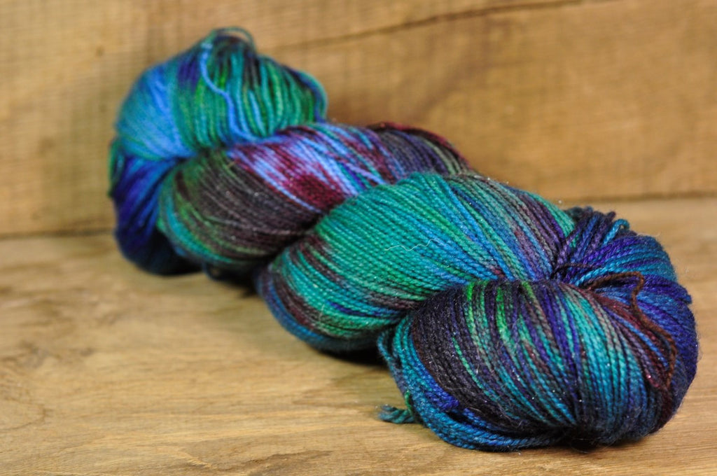 "Hand Dyed Merino Sparkle 4ply Yarn (Torquay 4ply) - ""Water Sprite'"