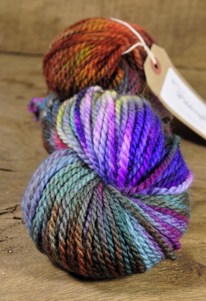 Hand Dyed SW BFL Aran Yarn - 'Muted Notes' (Truro Aran)