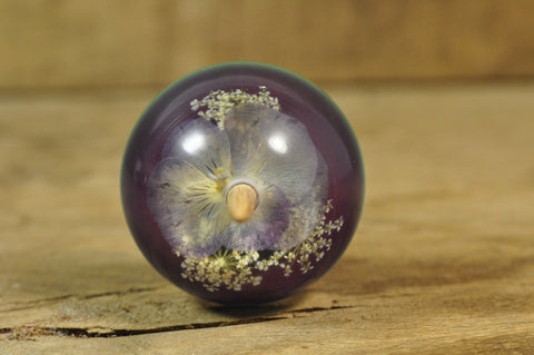 Resin Support Spindle - Viola on Blue