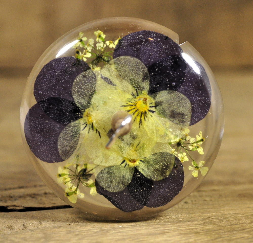 Resin Drop Spindle - Violas (1)