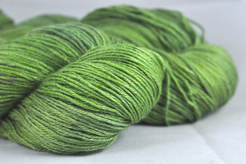 "Hand Dyed BFL/Silk 4ply Semi-Solid Yarn (Wells 4ply) - ""Apple"""