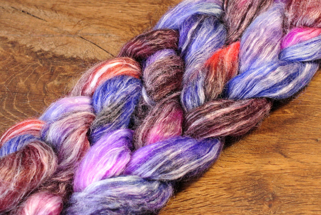 Wool/Llama/Ramie/Bamboo Top for Hand Spinning - 'Portia'