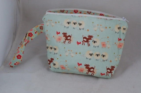 Knitter's Project Pouch - Farm Animals