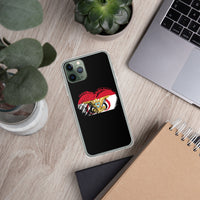 I Love Yemen Heart Flag iPhone Case