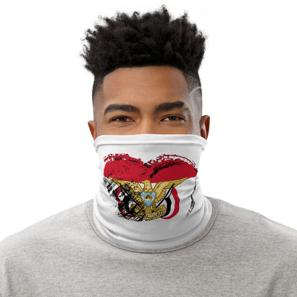 I Love Yemen Heart Flag Neck Mask