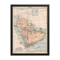 Old Map of Great Yemen Framed Poster