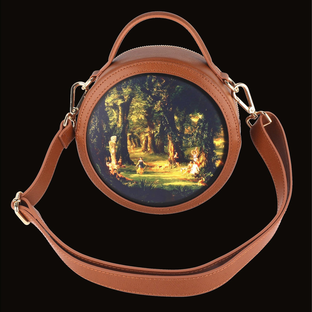 Load image into Gallery viewer, Luminare Tan Leather Handbag with Gold Hardware