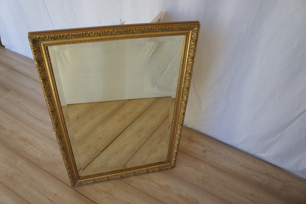 Gold Framed Bevel Edged Mirror
