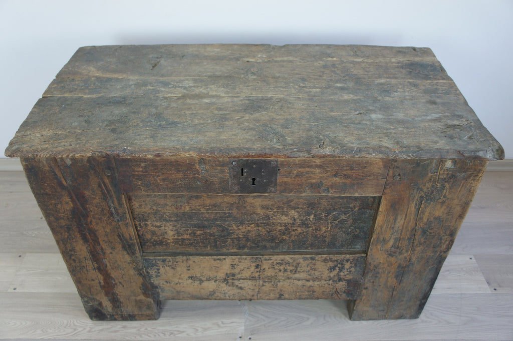 17th - 18th Century Larch Storage Chest