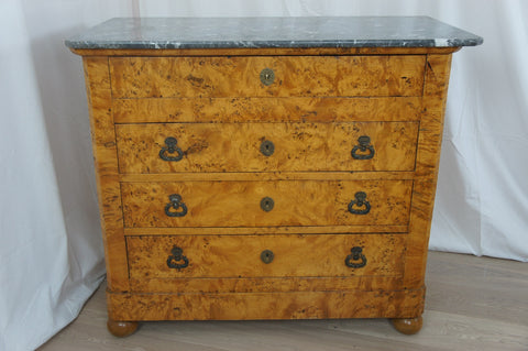18th Century Marble Topped Walnut Chest of Drawers
