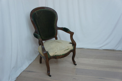 19th Century Walnut Armchair to reupholster