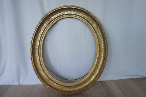 19th Century Oval Picture Frame