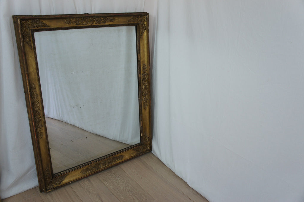 19th Century Gilded Rectangular French Mirror