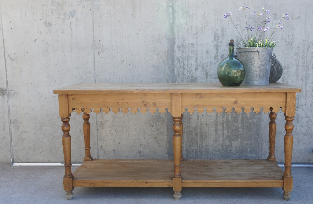 Decorative Drapers Bench Table / Kitchen Island / Console Table
