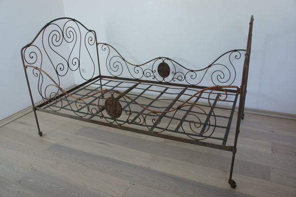 50 Kids Wrought Iron Bed Wrought Iron Queen Headboard: Wrought Iron Bronze Bed/Day Bed