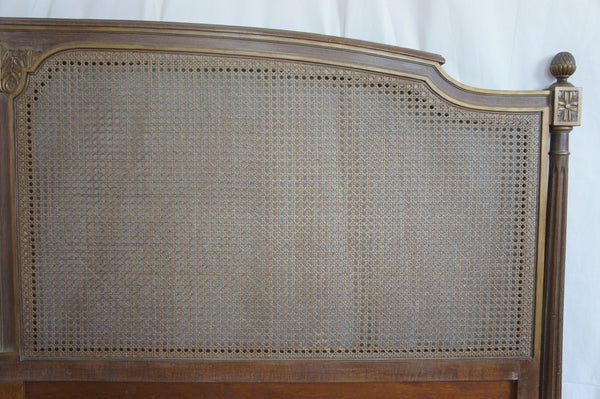 Cane Double Headboard Vintage French