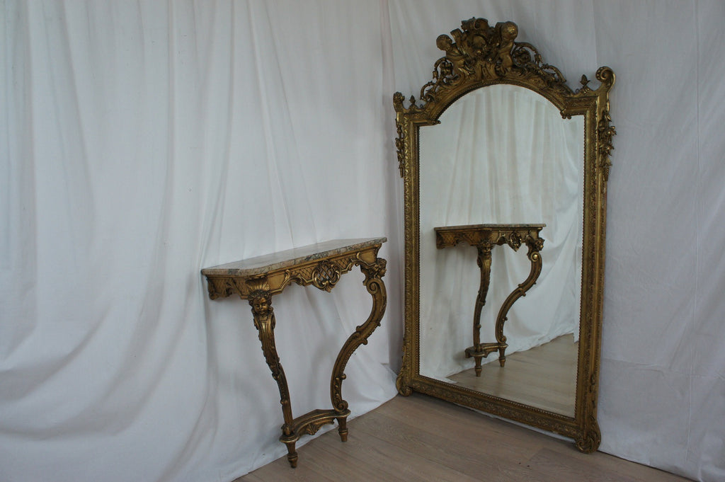 Large Cherub Mirror (matching our Hallway Console Table)