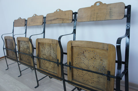 Bank of Metal and Wooden Cinema Seats (4)