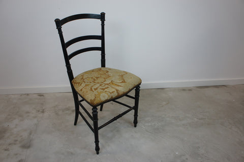 Nap III Ebonized Bedroom Chair (With Tapestry Seat)