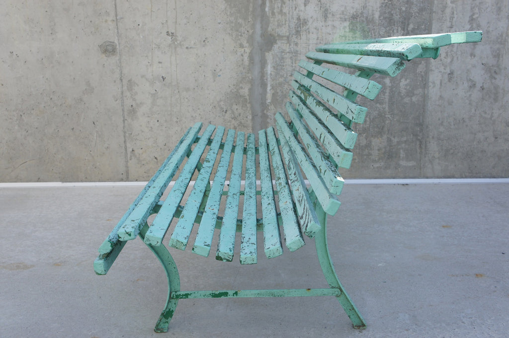 Blue 'Parisian' Garden Bench
