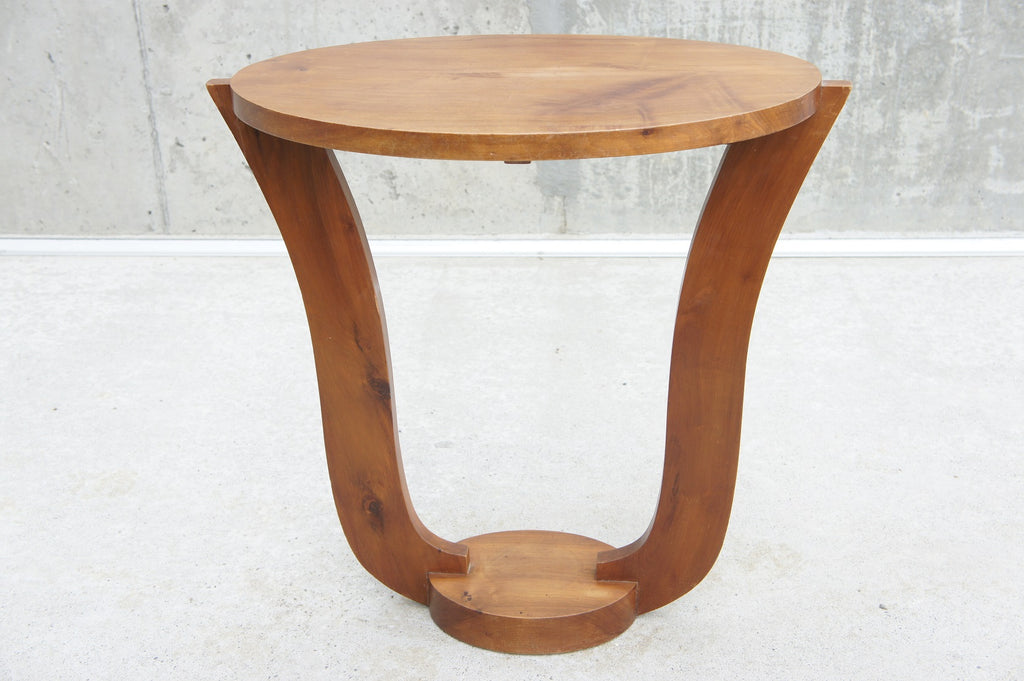 Oval Art Deco Gueridon Side Table