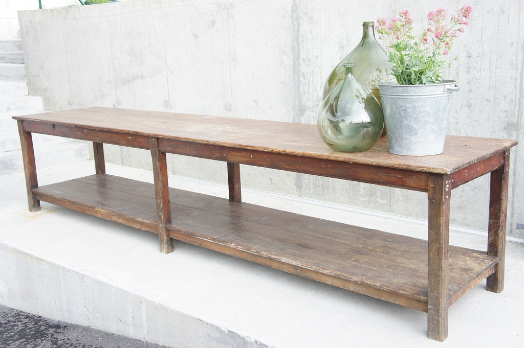 Rustic Drapers Bench Console Table / Sideboard