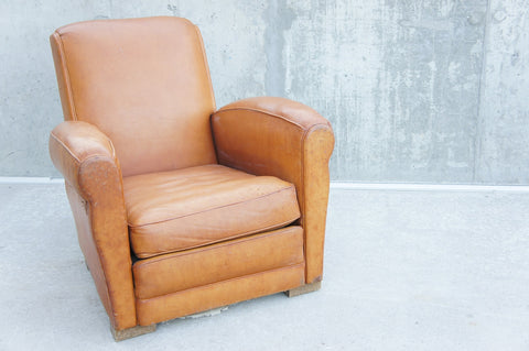 Congac Leather Club Chair